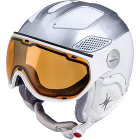 Slokker Raider Free Ski Helmet with Polarizing Visor silver/white